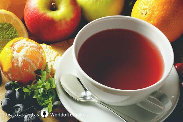 نوشیدنی های گرم سالم - چای میوه ای