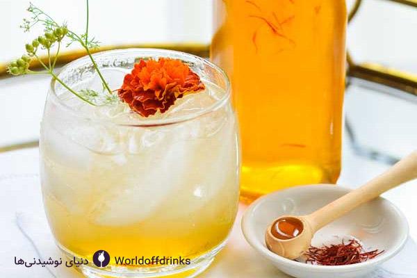 بهترین نوشیدنی های ایرانی - دنیای نوشیدنی ها - شریت زعفران