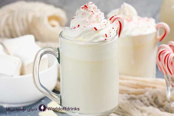 دنیای نوشیدنی ها - طرز تهیه شکلات داغ کافی شاپ - شکلات داغ سفید